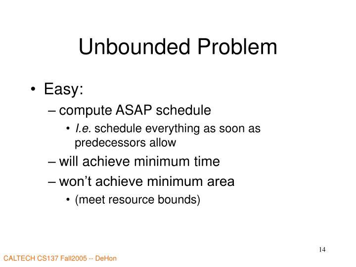 Unbounded Problem