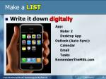 make a list2