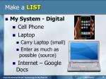 make a list5