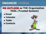 organize outlook