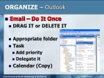organize outlook2