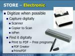 store electronic