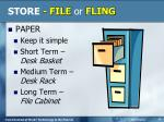 store file or fling