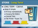 store long term