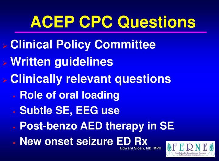 ACEP CPC Questions