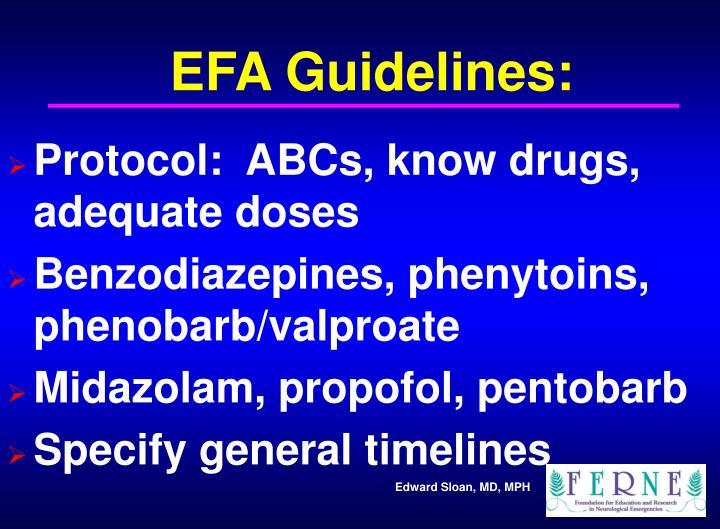 EFA Guidelines: