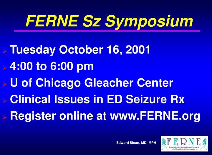 FERNE Sz Symposium