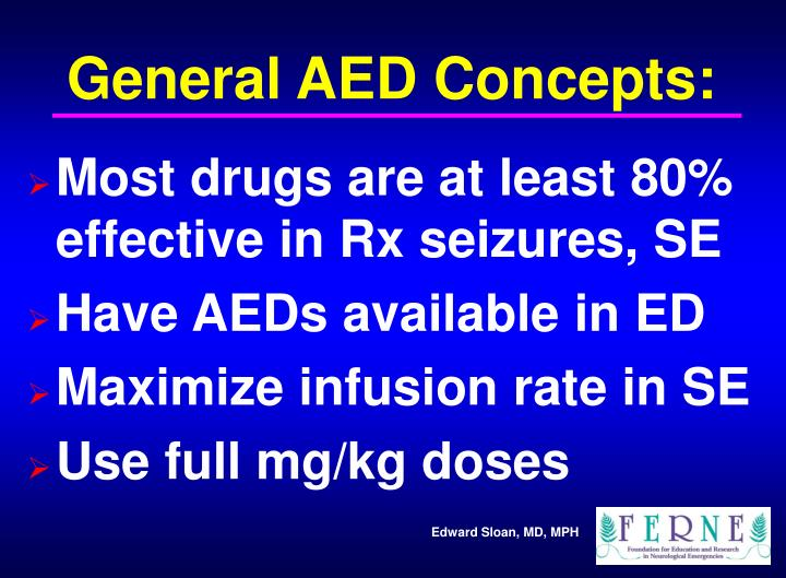 General AED Concepts:
