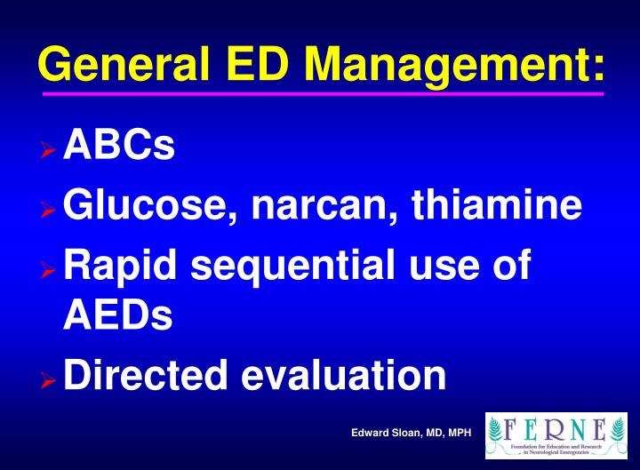 General ED Management: