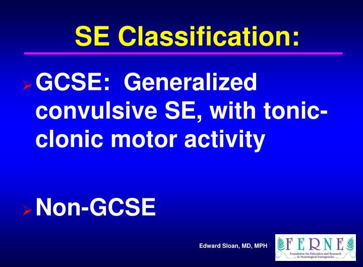 SE Classification: