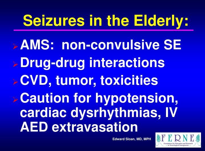 Seizures in the Elderly: