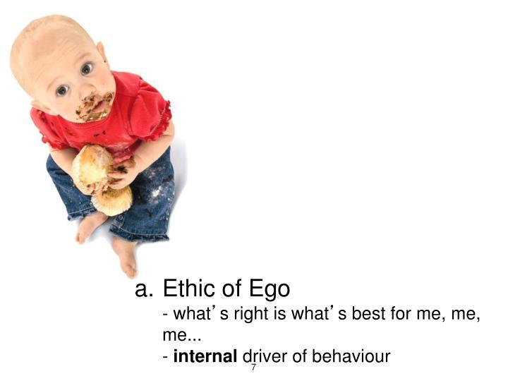 Ethic of Ego