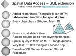 spatial data access sql extension szalay kunszt brunner http www sdss jhu edu htm