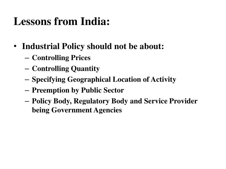 regulatory frameworks of indias industrial policies Gm crops policies: perspectives from the department of industrial policy and and – examined the brai bill against the standard regulatory frameworks.