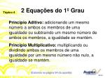 2 equa es do 1 grau1
