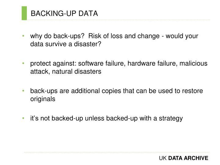 BACKING-UP DATA
