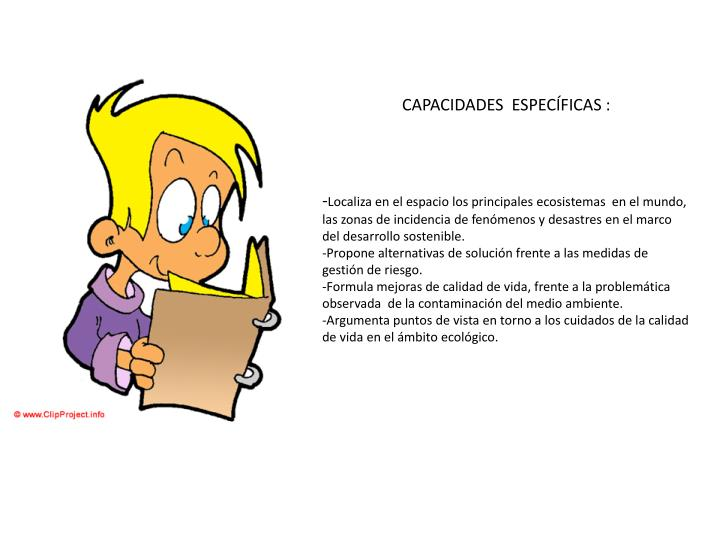 CAPACIDADES  ESPECÍFICAS :