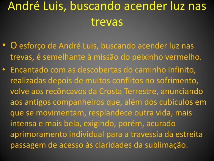 André Luis, buscando acender luz nas trevas