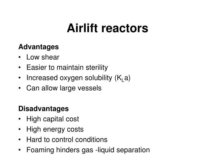 Airlift reactors