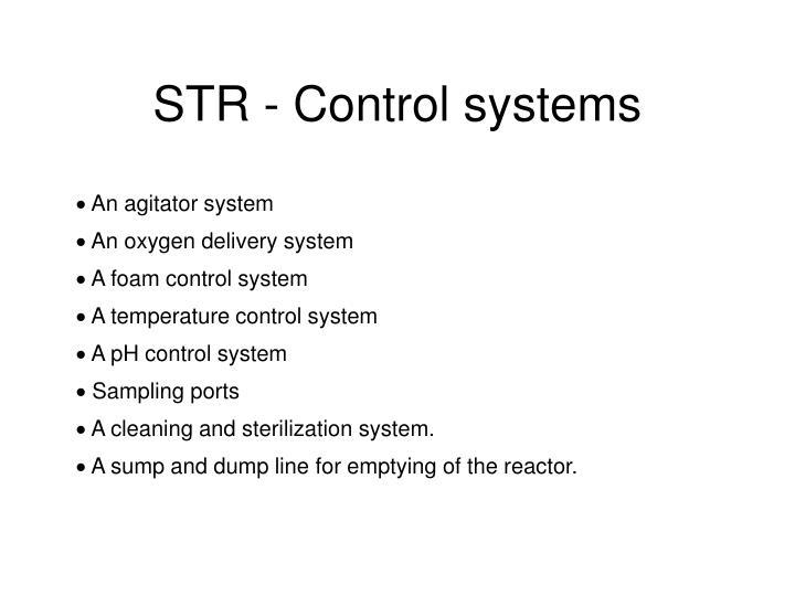 STR - Control systems