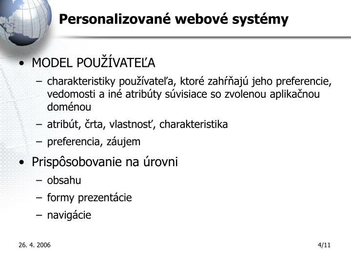 Personalizované webové systémy