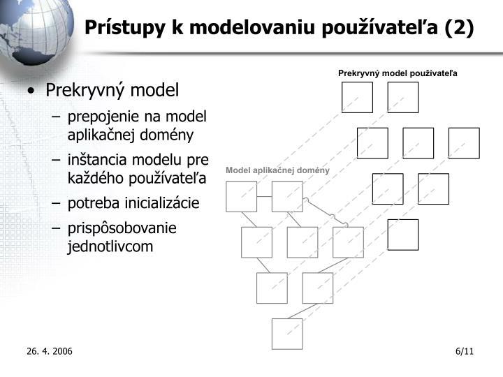 Prístupy k modelovaniu používateľa (2)