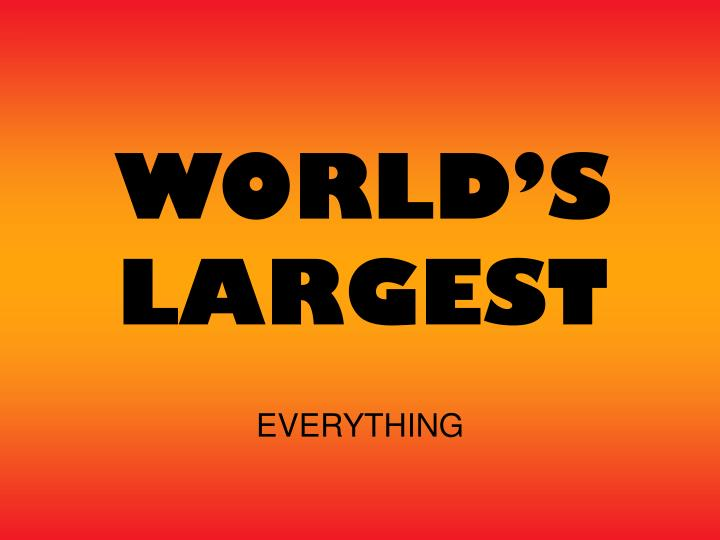 world s largest n.
