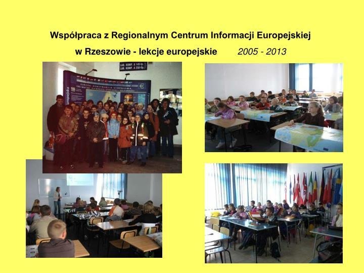 Współpraca z Regionalnym Centrum Informacji Europejskiej