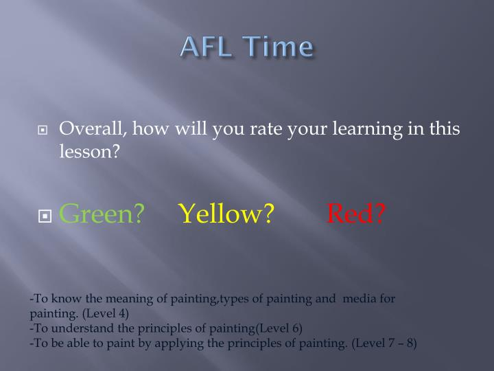AFL Time