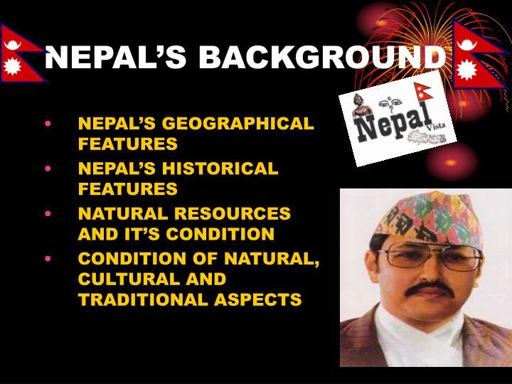 Nepal s background