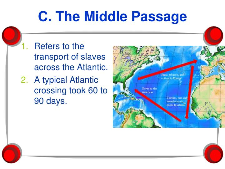 Refers to the transport of slaves across the Atlantic.