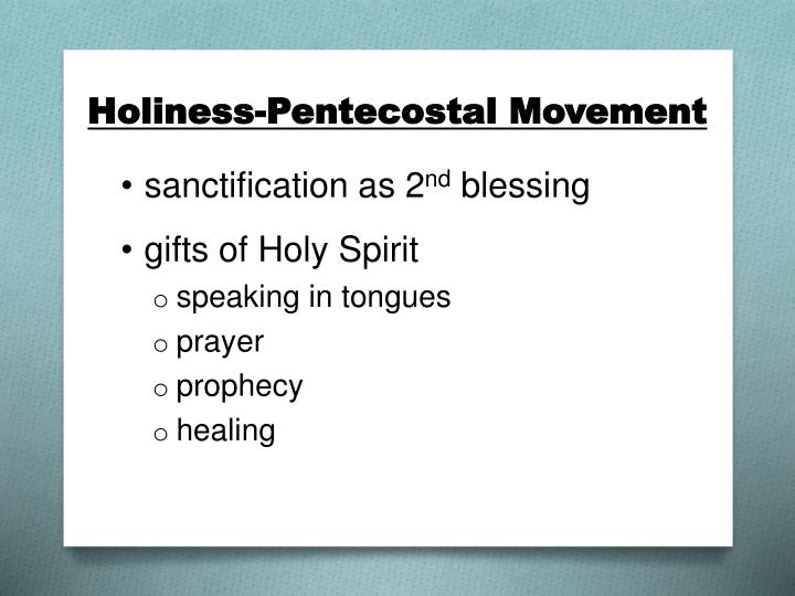 Holiness-Pentecostal Movement