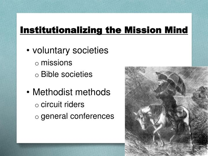 Institutionalizing the Mission Mind