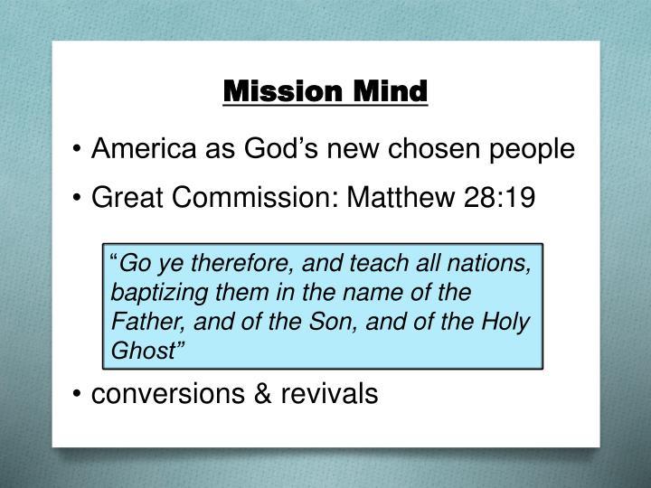 Mission mind