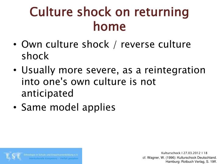 Culture shock on returning home