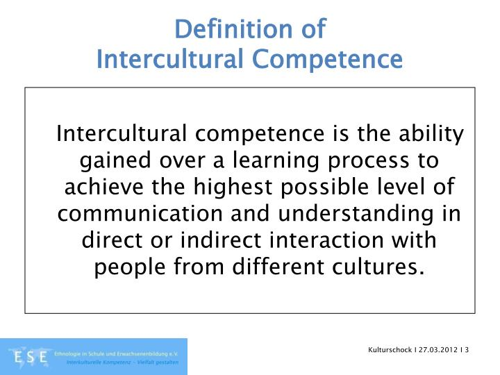 Definition of intercultural competence