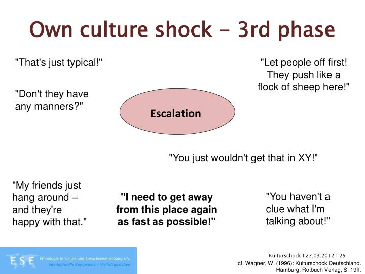 Own culture shock - 3rd phase