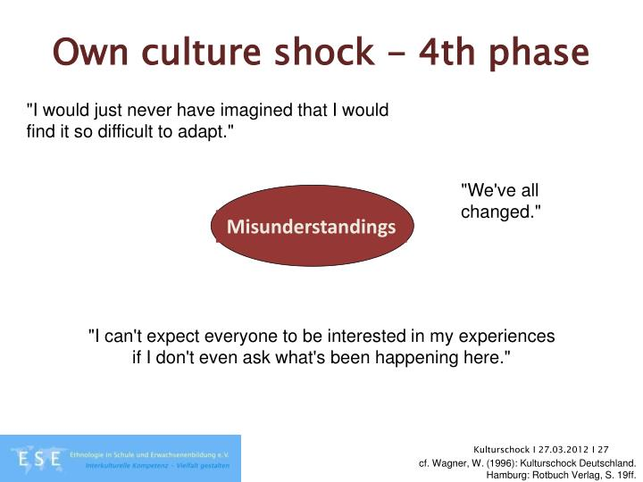 Own culture shock - 4th phase