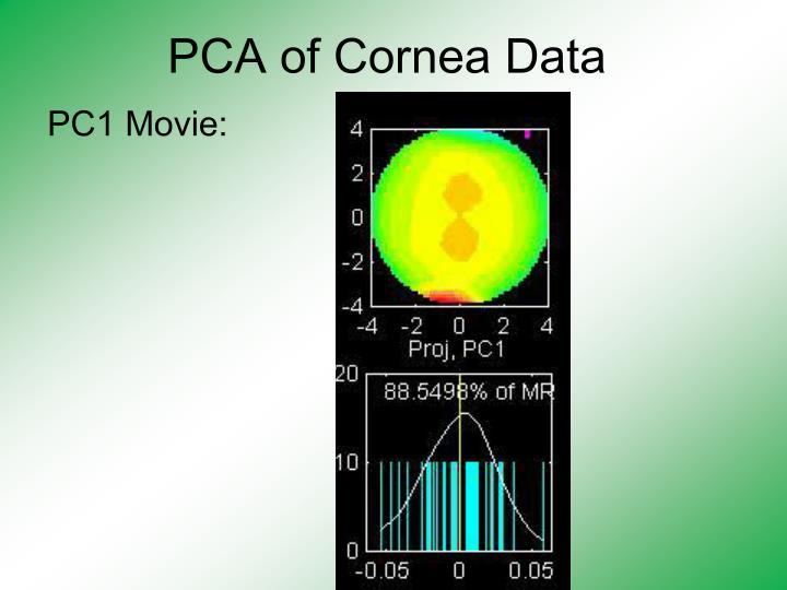 PCA of Cornea Data