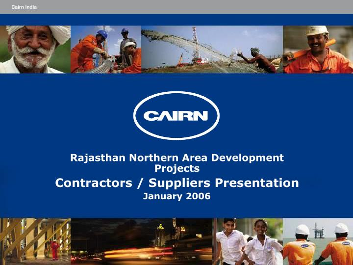 rajasthan northern area development projects contractors suppliers presentation january 2006 n.