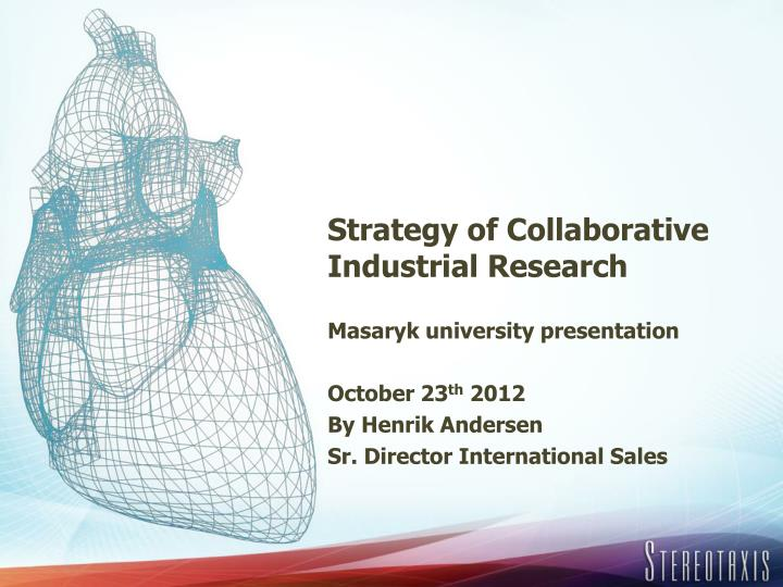 strategy of collaborative industrial research n.