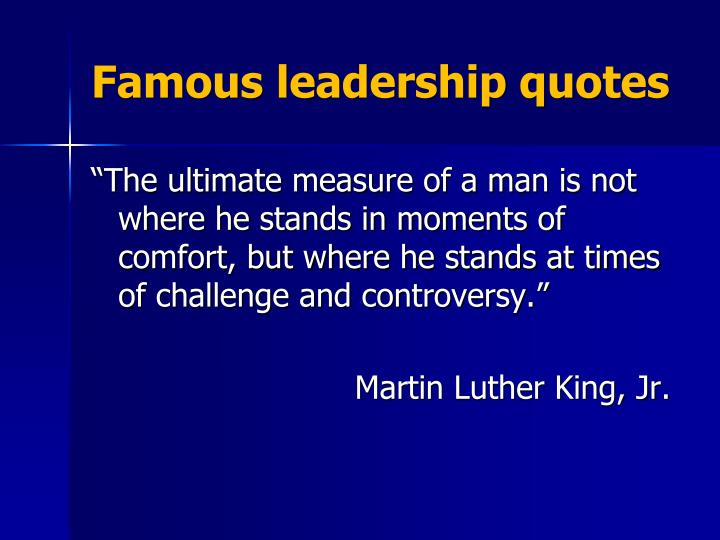 Famous leadership quotes