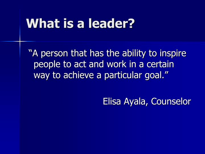 What is a leader2