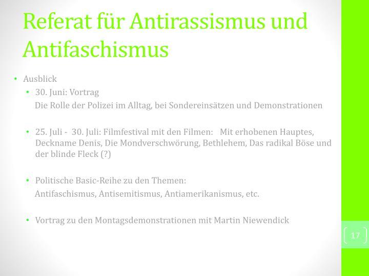 Referat für Antirassismus und Antifaschismus
