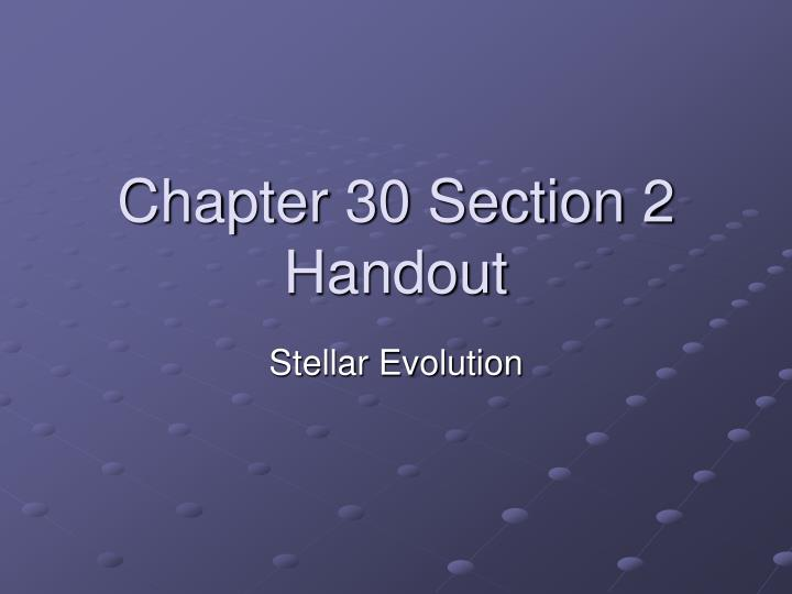 chapter 30 section 2 handout n.