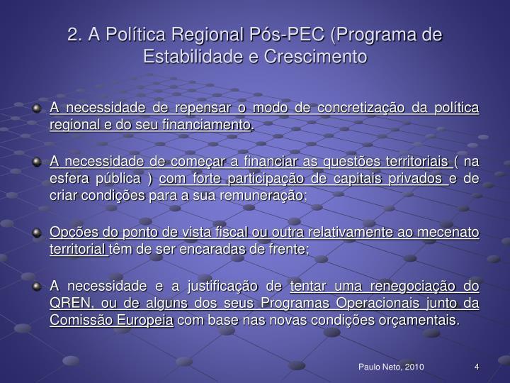 2. A Política Regional