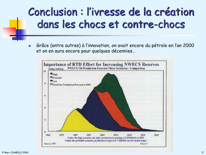 Conclusion : l'ivresse de la création dans les chocs et contre-chocs