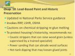 chap 18 lead based paint and historic preservation