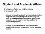 student and academic affairs