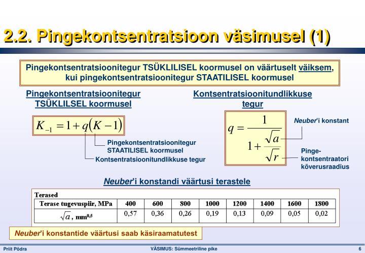 2.2. Pingekontsentratsioon väsimusel (1)